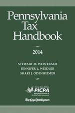 Pennsylvania Tax Handbook - Stewart M Weintraub