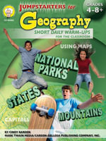 Jumpstarters for Geography, Grades 4 - 8 - Cindy Barden