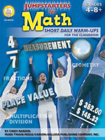 Jumpstarters for Math, Grades 4 - 8 - Cindy Barden