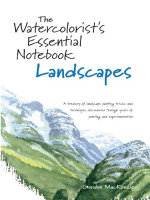 Watercolorist's Essential Notebook, Landscapes : A Treasury of Landscape Painting Tricks and Techniques Discovered Through Years of Painting and Experimentation - Gordon Mackenzie