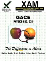 Gace Physics 030, 031 Teacher Certification Test Prep Study Guide - Sharon Wynne