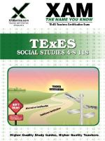TExES Social Studies 4-8 118 : Teacher Certification Exam - Sharon Wynne