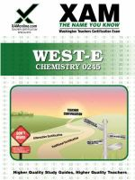 West-E/Praxis II Chemistry 0245 : Teacher Certification Exam - Sharon Wynne