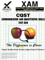 NYSTCE CQST Communication and Quantitative Skills Test 080 - Sharon Wynne