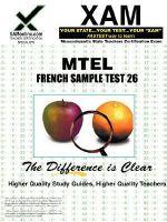 MTEL French Sample Test 26 : teacher certification exam - Sharon Wynne