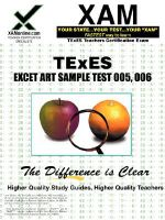 TExES ExCET Art Sample Test (All-Level-Secondary) 005, 006 - Sharon Wynne
