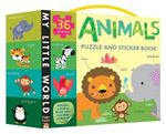 Animals Puzzle and Sticker Book Set : My Little World