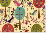 Note Card Folk Art Birds : 000321498 - Peter Pauper Press