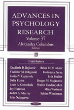 Advances in Psychology Research :  Volume 37 - Alexandra Columbus