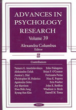 Advances in Psychology Research : v. 39 - Alexandra Columbus