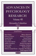 Advances in Psychology Research :  A Unifying Framework