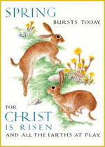 Marie Angel Rabbits Inspirational Greeting Card - Christina Georgina Rossetti