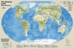 The Dynamic Earth, Plate Tectonics, Laminated : Wall Maps World - National Geographic Maps