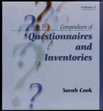 Compendium of Questionnaires and Inventories, Volume 2 : Simulated Realities - Sarah Cook