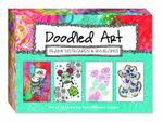 Doodled Art Blank Notecards & Envelopes : Set of 16 Featuring Four Different Images - Stephanie Corfee