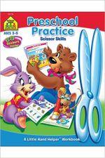 Preschool Practice Scissor Skills : 68 Stickers Inside - Joan Hoffman