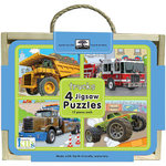 Innovative Kids Jigsaw Puzzle Box Sets: Trucks : (4 x 12 Piece Puzzles) - Innovative Kids