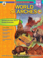 World Searches, Grades 4 - 6 : Facts, Puzzles, and Maps from Countries around the World - Shirley Pearson