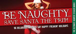 Be Naughty... Save Santa the Trip! :  96 Stickers to Celebrate Holiday Cheer - Cider Mill Press
