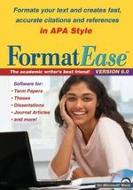 FormatEase, Version 6.0 : Paper and Reference Formatting Software - Guilford Press Software