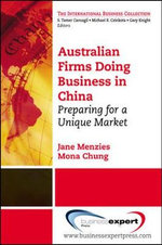 Doing Business in China : Getting Ready for the Asian Century - Jane Menzies
