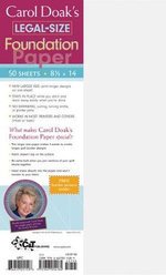 Carol Doak's Legal-Size Foundation Paper - Carol Doak