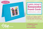 Carol Doak's Keepsake Frame Cards Celebration Colors - Carol Doak