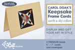 Carol Doak's Keepsake Frame Cards - Earth & Sky Colors : [Pack of 4] - Carol Doak