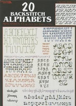 20 Backstich Alphabets, Mini Series #2 : Cross Stitch - Leisure Arts