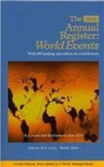 Annual Register : Record of World Events 2011 252nd Ed