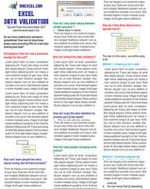 Excel Data Validation Tip Card - Anne Walsh