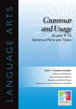 Sentence and Parts and Types, Grades 9-12 : Easy-To-Use Interactive Smart Board Lessons (Language Arts) - Saddleback Educational Publishing