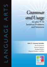 Sentence Problems and Solutions, Grades 9-12 : Easy-To-Use Interactive Smart Board Lessons (Language Arts) - Saddleback Educational Publishing