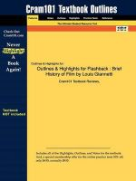 Outlines and Highlights for Flashback : Brief History of Film by Louis Giannetti - Cram101 Textbook Reviews