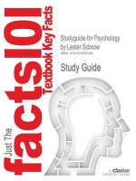Outlines & Highlights for Psychology by Lester Sdorow, Cheryl Rickabaugh, ISBN : 9781592601301 - Cram101 Textbook Reviews