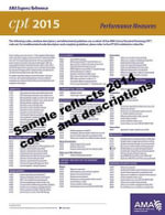 CPT 2015 Express Reference Coding Card Category II : Performance Management - AMA