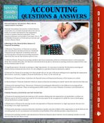 Accounting Questions & Answers - Speedy Publishing