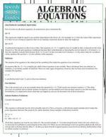 Algebraic Equations - Speedy Publishing LLC