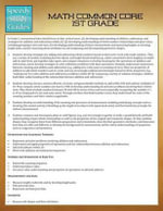 Math Common Core 1st Grade (Speedy Study Guides) - Speedy Publishing LLC