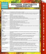 Business Contracts Terminology (Speedy Study Guide) - Speedy Publishing