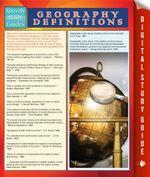 Geography Definitions (Speedy Study Guide) - Speedy Publishing
