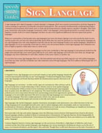Sign Language (Speedy Study Guide) - Speedy Publishing LLC