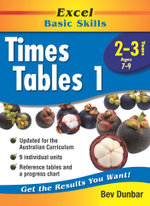 Excel Times Table 1 : Excel Maths, Years 2-3, Ages 7-9 - Bev Dunbar