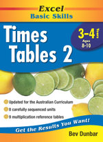 Excel Times Table 2 : Excel Maths, Years 3-4, Ages 8-10 - Bev Dunbar