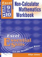 Excel Non Calculator Maths Workbook : Excel Years 9 to 10 - Excel