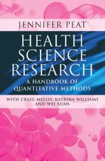 Health Science Research : A handbook of quantitative methods - Jennifer K Peat