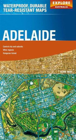Explore Australia Polyart Road Map : Adelaide - Explore Australia
