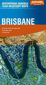 Explore Australia Polyart Road Map : Brisbane - Explore Australia