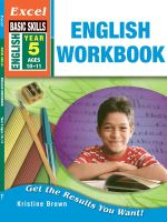 English : Workbook Year 5 - Kristine Brown