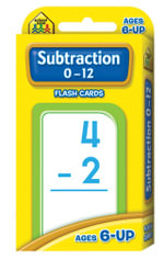 Subtraction 0-12 : Flash Cards